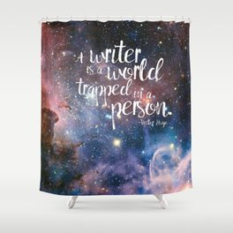 Victor Hugo Writer Quote Shower Curtain