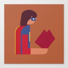 Ms Lady Reads Canvas Print