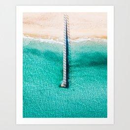 A lonely Pier Art Print