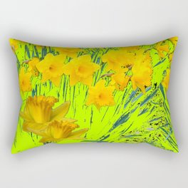 YELLOW SPRING DAFFODILS GARDEN Rectangular Pillow