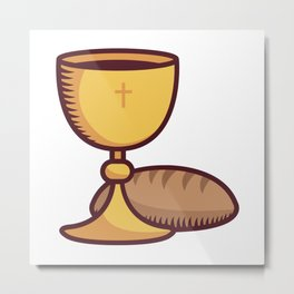 The Bread and Wine at a Mass Metal Print