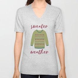 Sweater Weather Unisex V-Neck