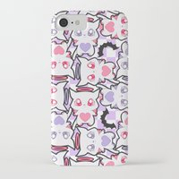 pastel goth iPhone & iPod Cases featuring Angelic Kitty (Pastel Goth) by display