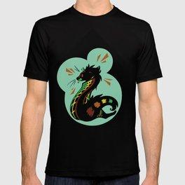 African Civet (Civettictis civetta) Oceanic Palette T-shirt