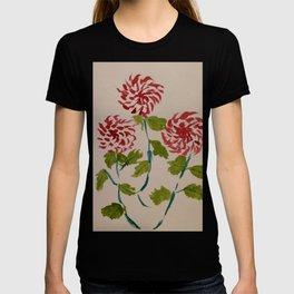 Crhysantemum Flowers - Sumi-e art T-shirt