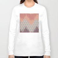 ikat Long Sleeve T-shirts featuring IKAT GEOMETRIE II by Nika