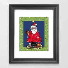 Santa Tree Framed Art Print