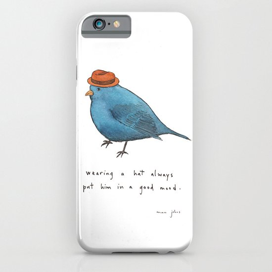 wearing a hat always put him in a good mood iPhone & iPod Case
