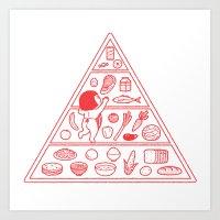 Food Pyramid Art Print