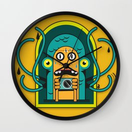 Danger at the moment of the click Wall Clock