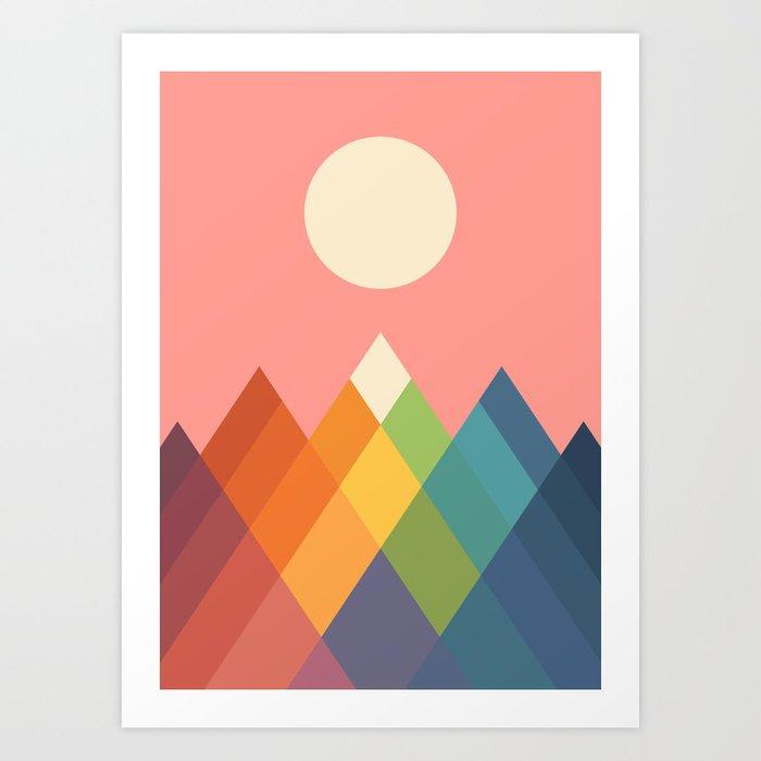 Rainbow Peak Kunstdrucke