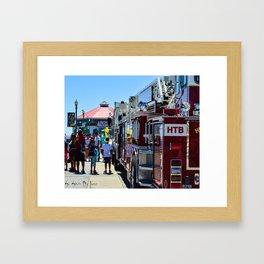 HB Community (Surf City USA) Framed Art Print