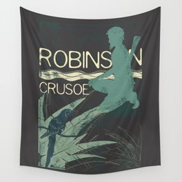 Books Collection: Robinson Crusoe Wall Tapestry