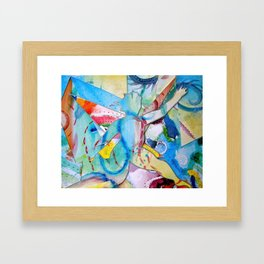 Scrappy by Day Framed Art Print