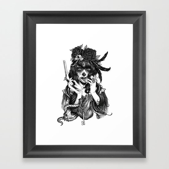 Chicana Framed Art Print