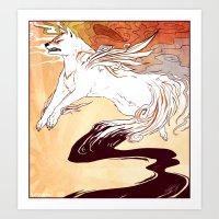 okami Art Prints featuring Okami by Weissidian
