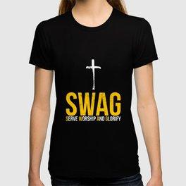 Jesus SWAG Serve Worship and Glorify Faith Religious T-Shirt T-shirt