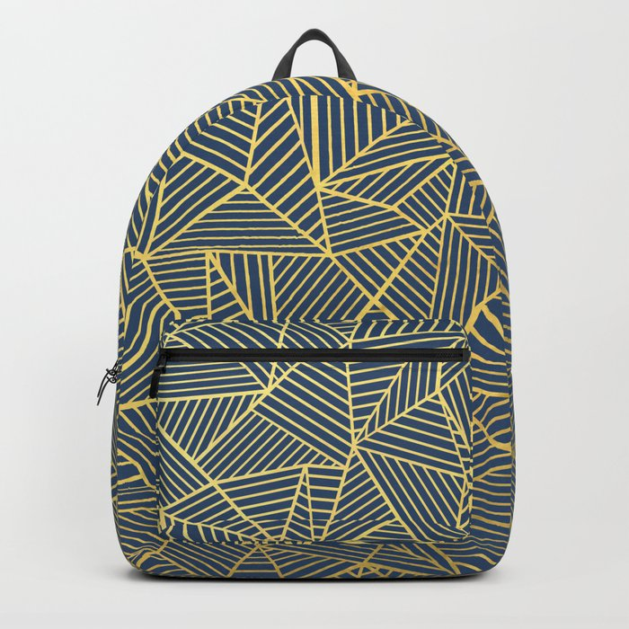 Ab Lines Gold and Navy Backpack