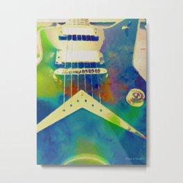 Rockin Blues Guitar by Tina A Stoffel Metal Print