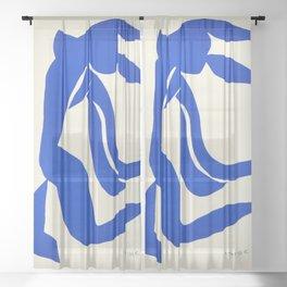 Blue Nude Dancing - Henri Matisse Sheer Curtain