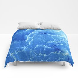 Blue mountains. Fractal pattern Comforters
