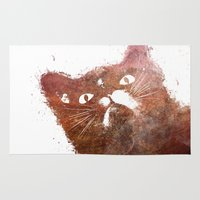 ginger Area & Throw Rugs featuring Ginger cat by jbjart