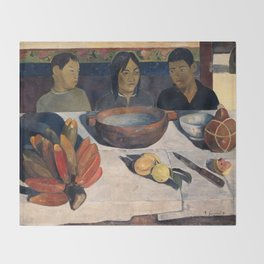 The Meal by Paul Gauguin Throw Blanket