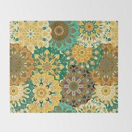 Boho Mandela Pattern 3 Throw Blanket