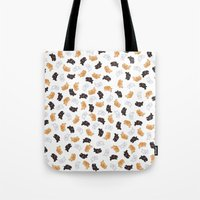 bunnies Tote Bags featuring Bunnies! by Kashidoodles Creations