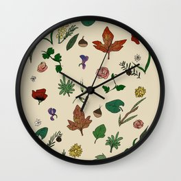 inside the woods Wall Clock