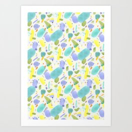 Chubby Watercolor marks Art Print