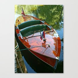 Classic Wooden Boat Canvas Print