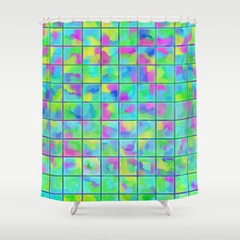 Watercolor Flower Petals in Pastel Colors Shower Curtain