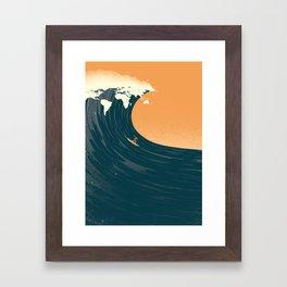 Surfing the World Framed Art Print
