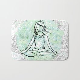 Yoga lace Bath Mat