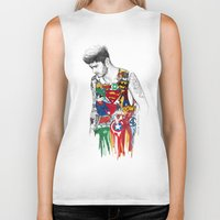 zayn Biker Tanks featuring Zayn Superhero  by Coconut Wishes