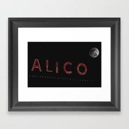 Waco, TX-Alico Moonlight Framed Art Print