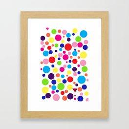Polk-a-dot martini Framed Art Print
