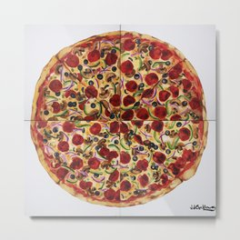 Everything Pizza Metal Print