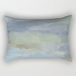 Diptych II - Sky Gray Blue Sage Green Abstract Wall Art, Painting Art, Lake Nature Print Portrait Rectangular Pillow