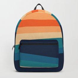 70's Retro Stripes Backpack