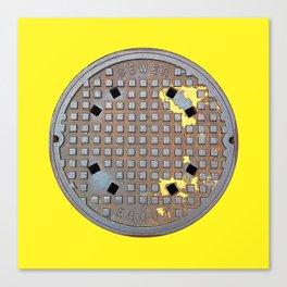 Montreal Sewer Manhole Canvas Print