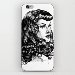 Pin Up Lady portrait. Emotional Portrait. iPhone Skin