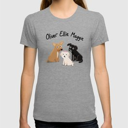 "Custom Artwork, ""Oliver Ellie Maggie"" T-shirt"