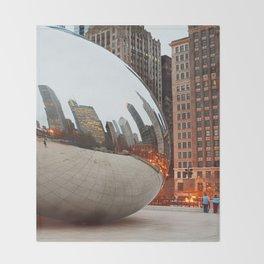 Chicago Bean - Big City Lights Throw Blanket