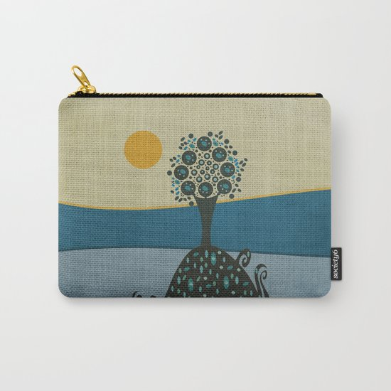 Lone tree in the hills Carry-All Pouch