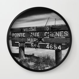 Pointe Aux Chenes Wall Clock