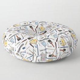 Painter's Supplies - Clear Floor Pillow