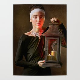 Girl with a Lantern Poster