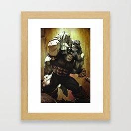 hulk v.s. juggernaut Framed Art Print